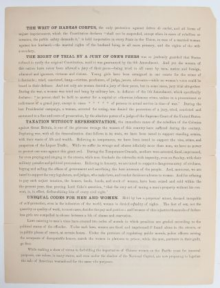 Image 3 of 5 for Declaration of Rights of the Women of the United States by the National Woman...