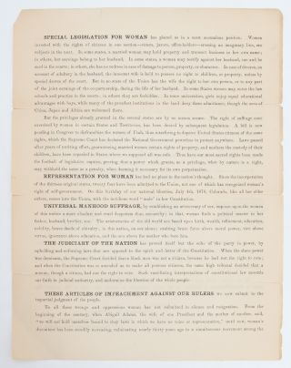 Image 4 of 5 for Declaration of Rights of the Women of the United States by the National Woman...