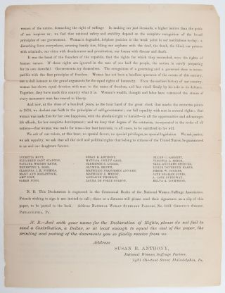 Image 5 of 5 for Declaration of Rights of the Women of the United States by the National Woman...