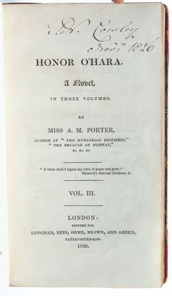 Image 9 of 10 for Honor O'Hara, a Novel in Three Volumes