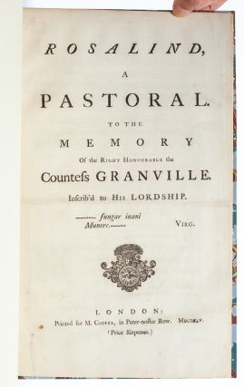 Image 3 of 5 for Rosalind, a Pastoral. To the Memory of the Right Honourable the Countess Granville