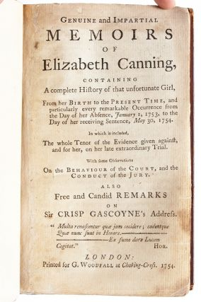 Image 4 of 6 for Genuine and Impartial Memoirs of Elizabeth Canning, Containing a Complete...