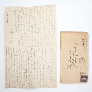 Collection of 44 handwritten letters, documenting a young couple's courtship in the modern world