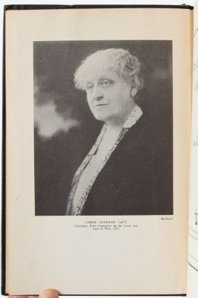 Image 3 of 7 for Carrie Chapman Catt, A Biography (First Edition Presentation Copy