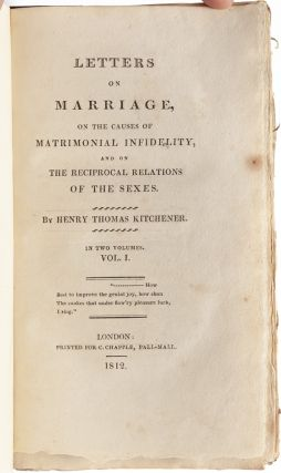 Image 4 of 8 for Letters on Marriage, on the Causes of Matrimonial Infidelity, and on the...