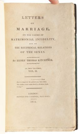 Image 7 of 8 for Letters on Marriage, on the Causes of Matrimonial Infidelity, and on the...