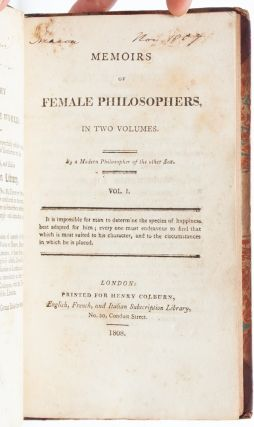 Image 4 of 8 for Memoirs of Female Philosophers (in 2 vols