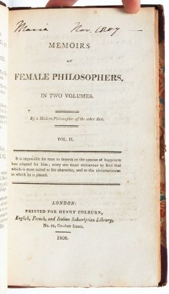 Image 7 of 8 for Memoirs of Female Philosophers (in 2 vols
