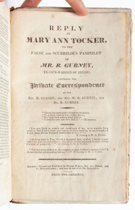 Image 6 of 7 for Three scarce pamphlets documenting Mary Ann Tocker's legal charges of corruption...