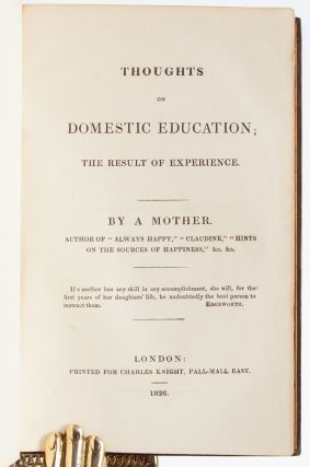Image 4 of 7 for Thoughts on Domestic Education; The Result of Experience