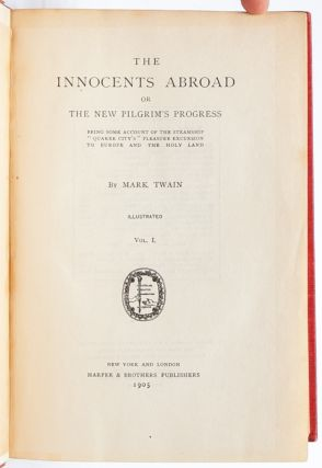 The Innocents Abroad (Inscribed with Aphorism)