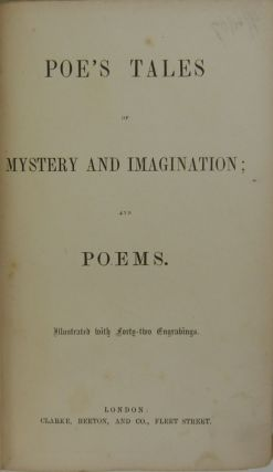 Image 3 of 5 for Poe's Tales of Mystery and Imagination; and Poems [First and Second Series bound...