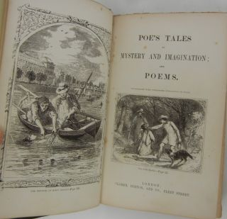 Image 4 of 5 for Poe's Tales of Mystery and Imagination; and Poems [First and Second Series bound...