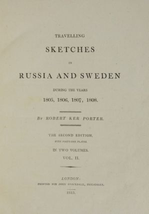 Travelling Sketches in Russia and Sweden During the Years 1805, 1806, 1807, 1808.