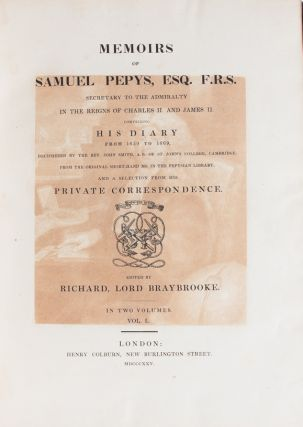 Image 3 of 3 for Memoirs of Samuel Pepys Comprising His Diary from 1659-1669, Deciphered by the...